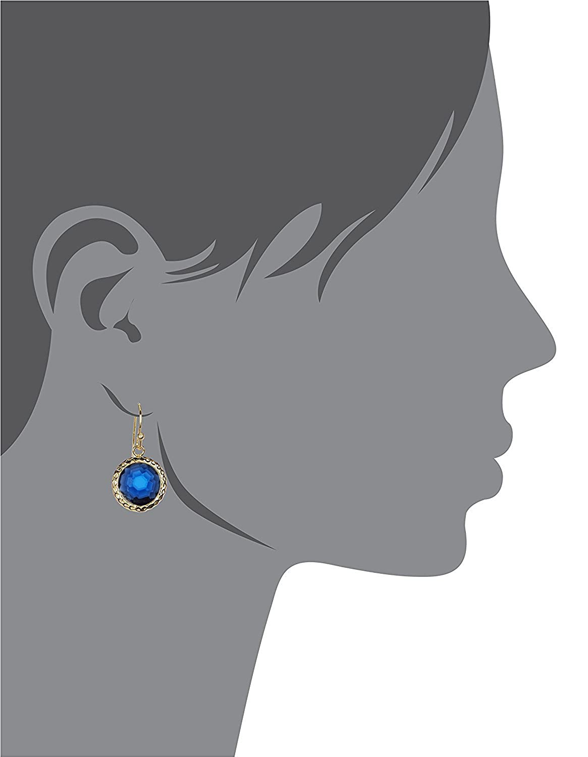 London Blue Quartz Round Hammered Gold Clad Wholesale Gemstone Fashion Jewelry Drop Earrings