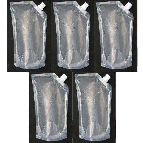 5 x Flexible Collapsible Foldable Reusable Water Bottles Survival Emerg BPA Free
