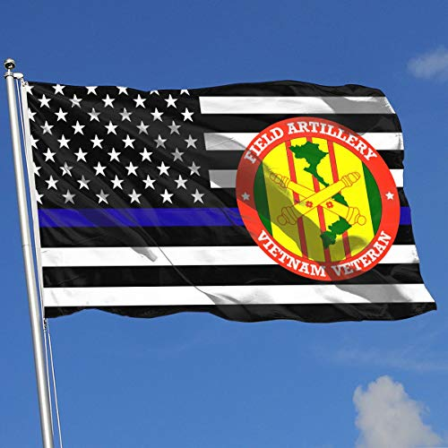 QphonesFlag Thin Blue Line US Field Artilley Vietnam Veteran 3x5 Flag-Flags 90x150CM-Banner 3'x5' FT