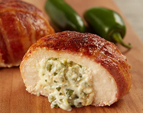 Burgers' Smokehouse Gourmet Stuffed and Bacon Wrapped Chicken Breast Filets (Jalepeno & Cream Cheese) ()