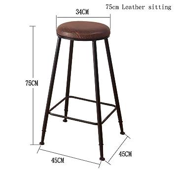 DZW Retro Küche Hocker mit Metall Beine High Hocker Bar Hocker Sitz ...