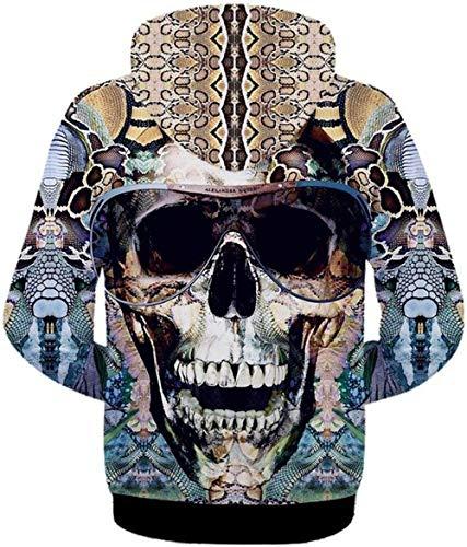 3D 16 Clásico Digital Colour Hip Bolsillos Outwear Capucha Chaquetas con Size con Bolsas De Larga Chicos Estampado Color con Capucha Manga M Hop Laterales con Unisex De qxwS8vC