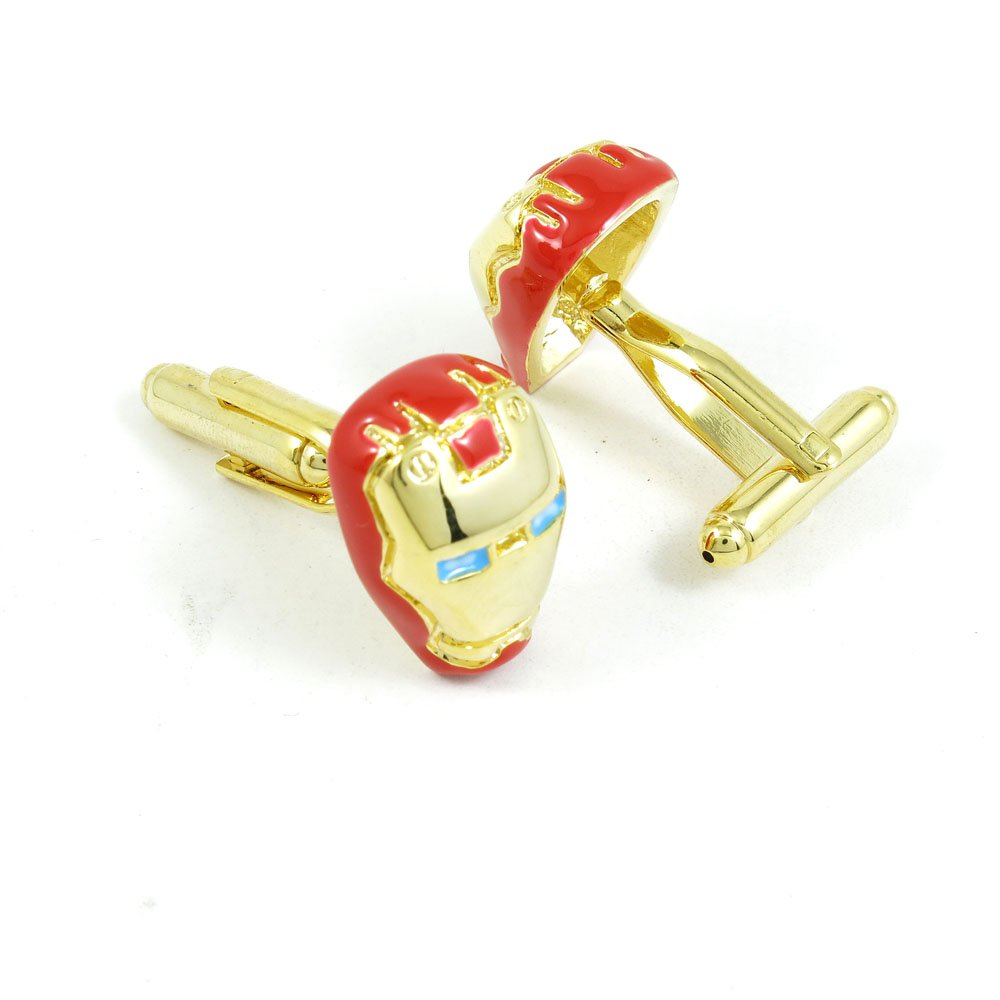 50 Pairs Cufflinks Cuff Links Fashion Mens Boys Jewelry Wedding Party Favors Gift SSI047 Iron Man Heroic by Fulllove Jewelry