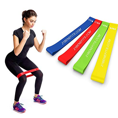 Resistance Loop Exercise Bands - Exercise Bands for Legs and Butt - Stretch Bands - Workout Bands - Weight Lifting Set for Men and Women