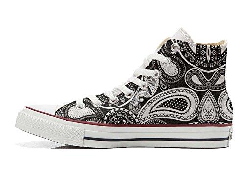 Handwerk Schuhe Hi Converse Schuhe Customized All Paisley Elegant Star personalisierte pqqYfw