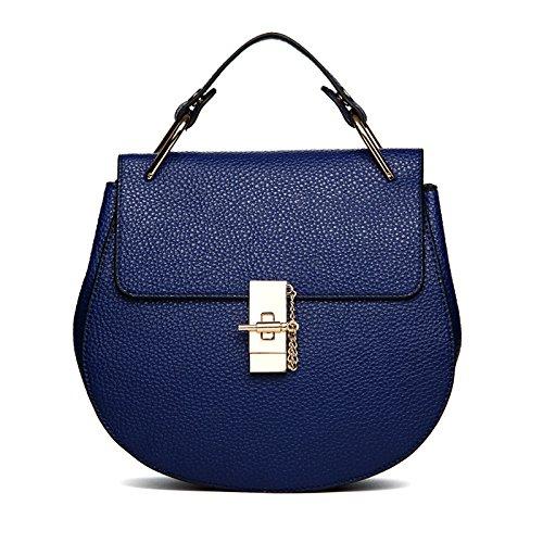 Borsa Blue Nuovo In Borsetta Tracolla Signore Moda Poliuretano Catena Anq8f51