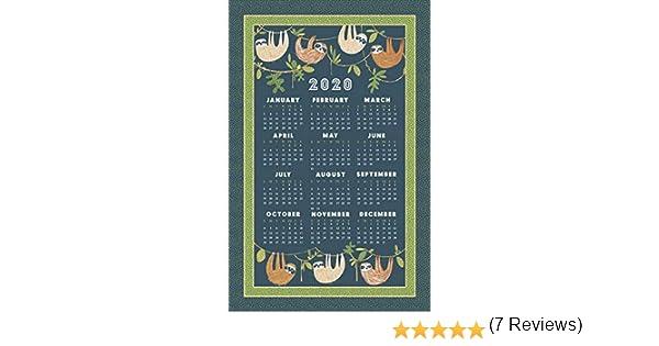 Pa/ño de Cocina con Calendario 2020, algod/ón dise/ño con Texto en ingl/és Ulster Weavers