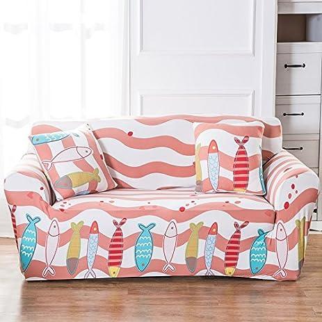 Amazon.com: Stretch Printed Sofa Cover Anti-Slip Anti Wrinkle Sofa ...