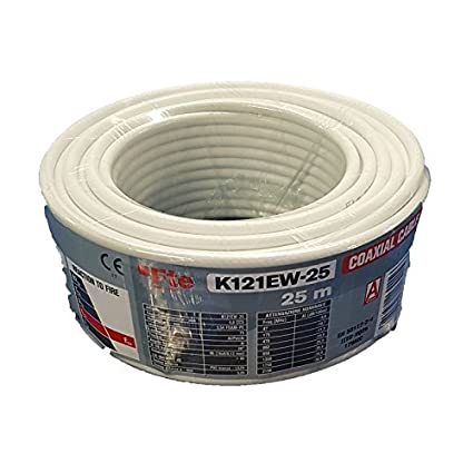Cable TV para Digital Terrestre y satélite 5 mm 25 Mt k121ew-25 FTE Maximal