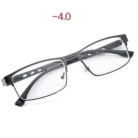 Yangjing-hl Gafas de miopía terminadas Hombres Gafas de luz Azul ...