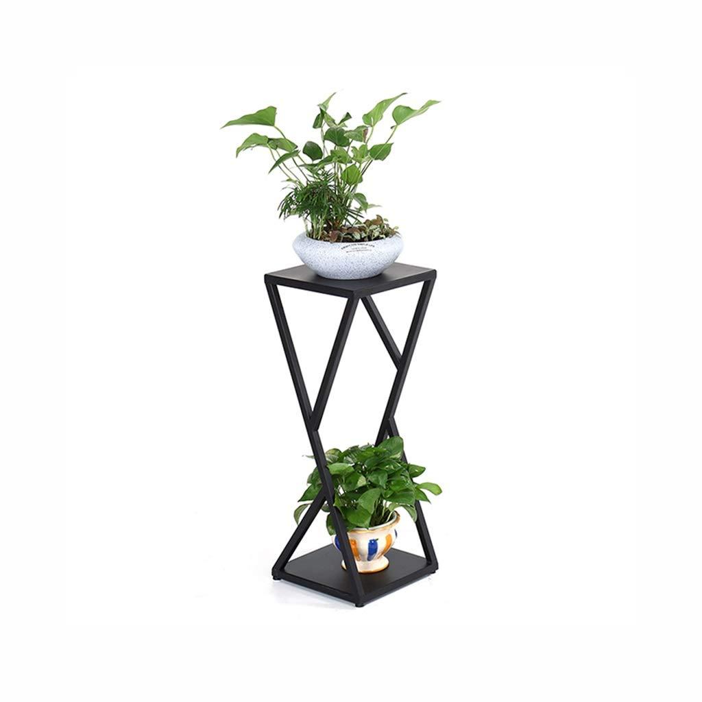 FKYGDQ Fioriera in Ferro battuto piantana Fiore Stand Soggiorno in Metallo Fiore Stand Due Dimensioni opzionali Stand di Fiori (colore   Nero, Dimensioni   30×30×80cm)