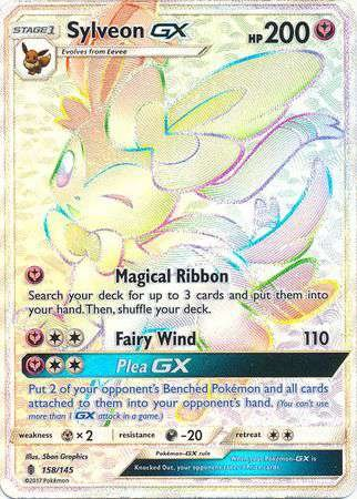 Pokemon Sylveon-GX - 158/145 - Secret Rare - Sun & Moon: Guardians Rising