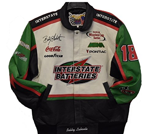 Jeff Hamilton Bobby Labonte Interstate Batteries Leather Jacket Size XLarge