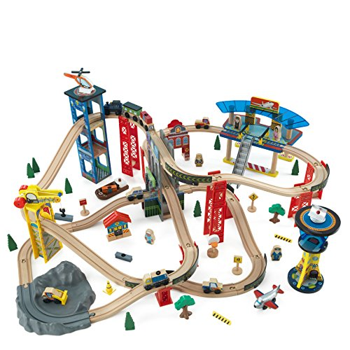 KidKraft Super Highway Train Set (Train Kidkraft Wooden)