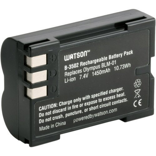 Watson BLM-1 Lithium-Ion Battery Pack (7.4V, 1450mAh) -Replacement for Olympus BLM-1 Olympus:C-5060, C-7070, C-8080, E-30, E-520, E-3, E-500, E-300, E-330, E-510