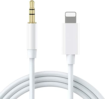 Apple MFi Certified Speaker Sliver 3.3FT//1M Lightning to 3.5mm Audio Stereo Nylon Cord Compatible for iPhone 11//11 Pro//XS//XR//X 8 7 iPhone to 3.5mm Car AUX Cable, Headphone iPad to Home Stereo