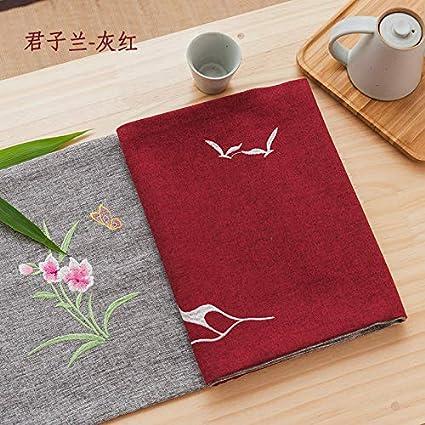 PORCN China Mesa Bandera Zen Mesa decoración paño Tira Hotel Cama Cama Cama Toalla Toalla de
