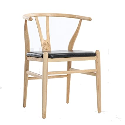 Hearty Nordic Solid Wood Dining Chair Modern Minimalist Hotel Restaurant Armrest Chair Office New Chinese Coffee Chair Café Furniture Furniture