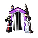 9Ft Inflatable Halloween Arch Archway Gate with Reaper Ghost Gravestone Inflatables for Home Yard Lawn Garden Party Indoor Outdoor