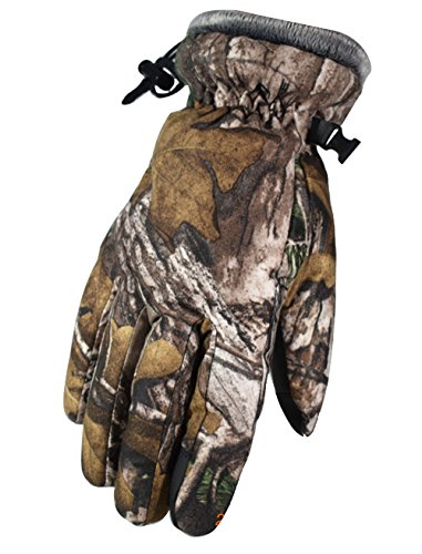 Camouflage Waterproof Windproof Thermal Gloves with Little Zipper Pocket For Men Women Cycling Skiing Snowboarding