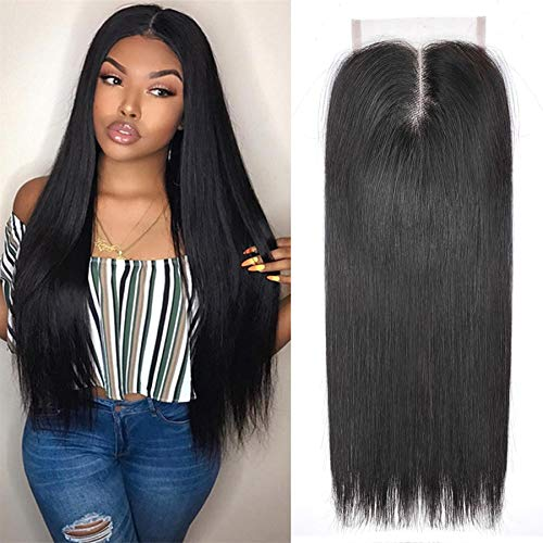 Ayana Brazilian Virgin Hair Straight Middle Part 4X4 Lace Closure 100% Unprocessed Human Hair Lace Closure (14straight)