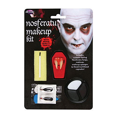 Fun World Unisex-Adult's Nosferatu - Fang M/u Kit, Multi, Standard