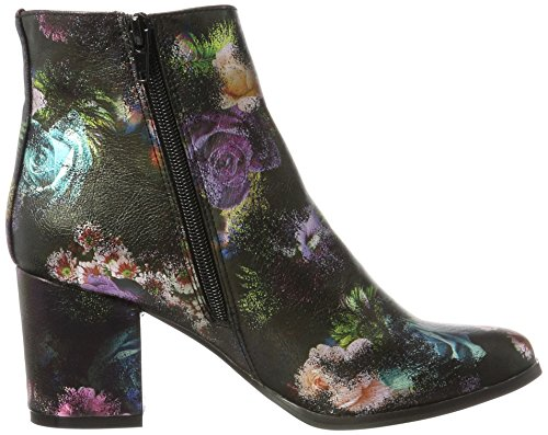 VERO MODA Damen Vmgina Boot Stiefel Mehrfarbig (Black_PINK FLOWERS)
