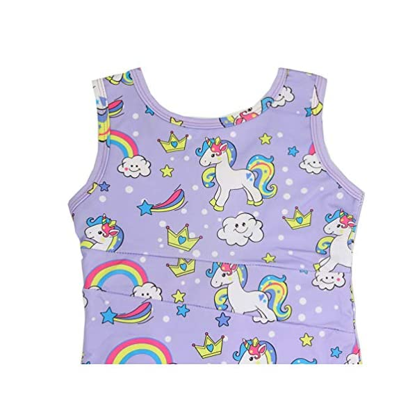 Marosoniy Leotards for Girls Bathing Suits for Kids Unicorn Gymnastics Leotard Rainbow Ballet Dance Sparkly Biketard Unitard Swimsuits One Piece 6