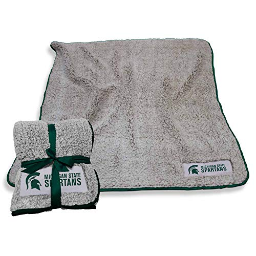 Michigan State Spartans Logo - Logo Michigan State Spartans NCAA Frosty Fleece 60 X 50 Blanket - Team Color