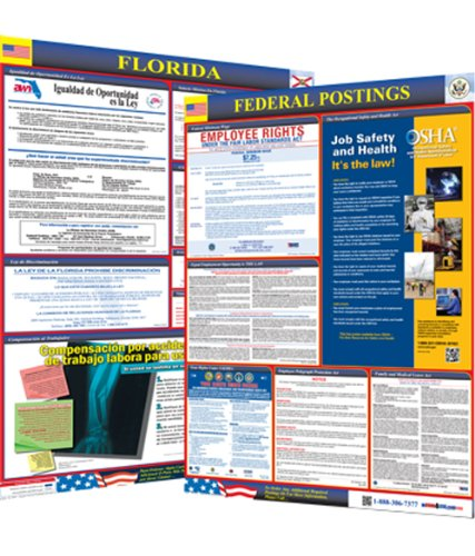 Osha4less Laminated Florida State and Federal Labor Law Poster