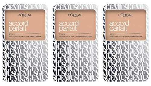 Accord Parfait Genius Compact 4 in 1 2R/2C Rose Vanilla, 3er Pack