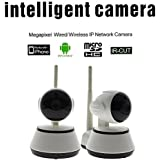 HR01 WiFi Network 720P HD Wireless IP Camera + Natural Gas Leak Detector Home Surveillance Security Alarm System
