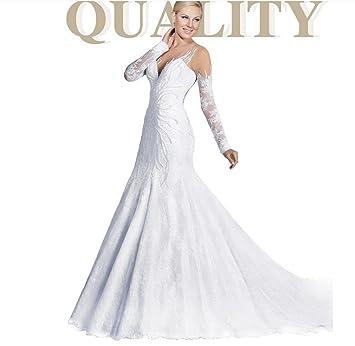 HAPPYMOOD Vestido de novia Vestido de novia Banquete de boda Vestido de fiesta de graduación Largo