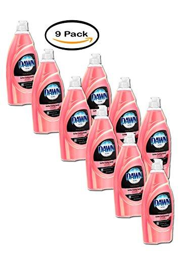 Pack of 9 - Dawn Ultra Hand Renewal Pomegranate Splash Scent Dishwashing Liquid, 18 fl - Splash Pomegranate