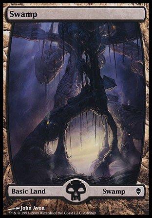 Swamp Foil (Magic the Gathering: Swamp (238) (Foil) - Zendikar)