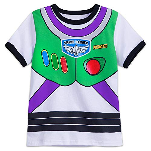 Disney Buzz Lightyear Costume T-Shirt for Kids Size S (5/6) Multi]()