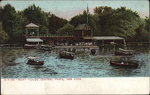 (Boat House, Central Park New York, New York Original Vintage Postcard)