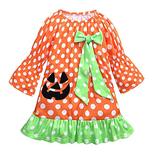 LIKESIDE Toddler Kids Baby Girls Dot Bowknot Embroidery