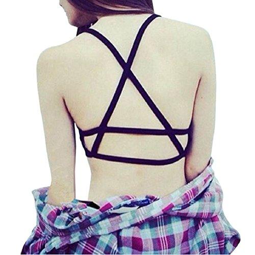 Doinshop Women's Caged Vest Crop Padded Bra