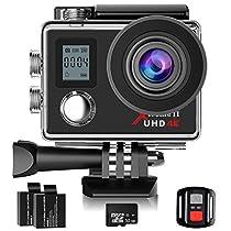 Campark ACT76 Action Cam 4K WIFI 16MP Ultra HD Sport Action Camera con Dual Screen Telecomando