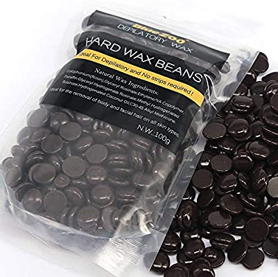 BlueZoo Depilatory Hard Wax Beans - 100 gms Chocolate