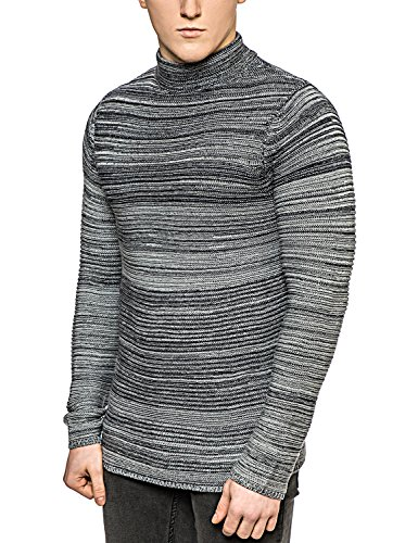 Only & Sons - Pull tricoté - À rayures - Col roulé - Manches longues - Homme