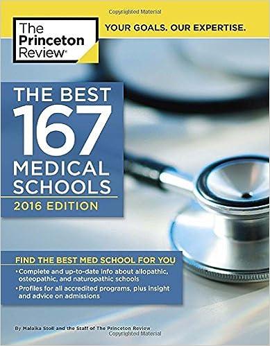 The Best 167 Medical Schools, 2016 Edition (Graduate School