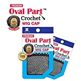 Shake N Go Freetress Premium Oval Part Crochet Wig Cap (3 Pack)