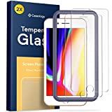 Caseology iPhone 8 Plus Screen Protector with Guide Frame [Tempered Glass] [Easy Installation] for iPhone 8 Plus/iPhone 7 Plus - 2 Pack