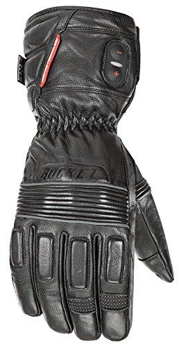 - Joe Rocket Mens Rocket Leather Burner Heated Gloves (Black, Large)