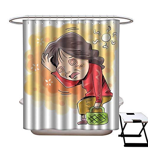 warmfamily Home Decor Shower Curtain Geriatric Disease Shower