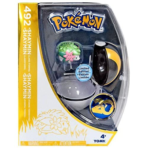 Pokemon 20th Anniversary Clip n Carry Pokeball Shaymin Figure Set [20th Anniversary] by TOMY