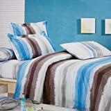 Blancho Bedding - [Graffiti] 100% Cotton 4PC Comforter Cover/Duvet Cover Combo (King Size)