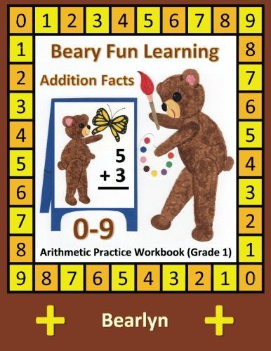 beary-fun-learning-addition-facts-0-9-arithmetic-practice-workbook-grade-1-al-bear-einstein-math